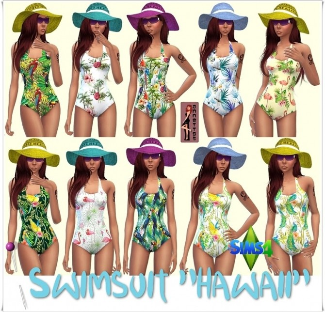 Hawaii Swimsuit at Annett's Sims 4 Welt image 1486 670x644 Sims 4 Updates