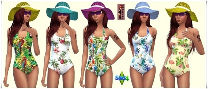 Hawaii Swimsuit at Annett's Sims 4 Welt image 1495 670x287 Sims 4 Updates