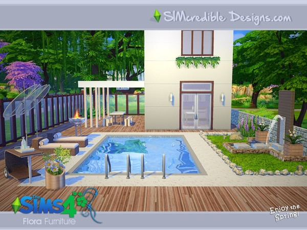 Flora outdoor furniture by SIMcredible! at TSR image 15107 Sims 4 Updates