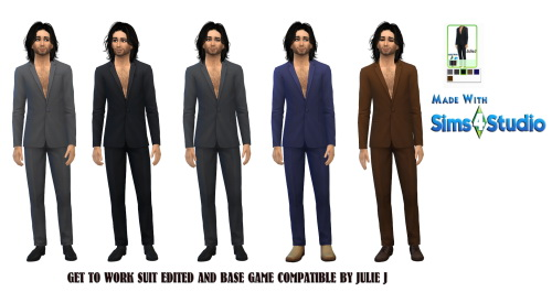 Sims 4 GetToWork Male Suit Edited at Julietoon – Julie J