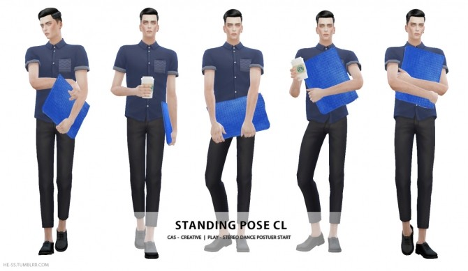 Sims 4 STANDING POSE C, CL CAS&PLAY at HESS
