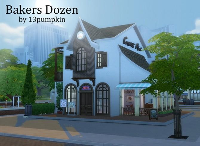 Sims 4 Bakers Dozen Quaint little bakery at 13pumpkin31
