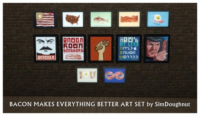 Bacon Art at SimDoughnut image 15319 670x387 Sims 4 Updates