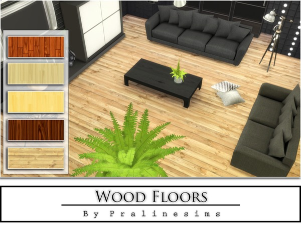 Sims 4 Wood Floors by Pralinesims at TSR