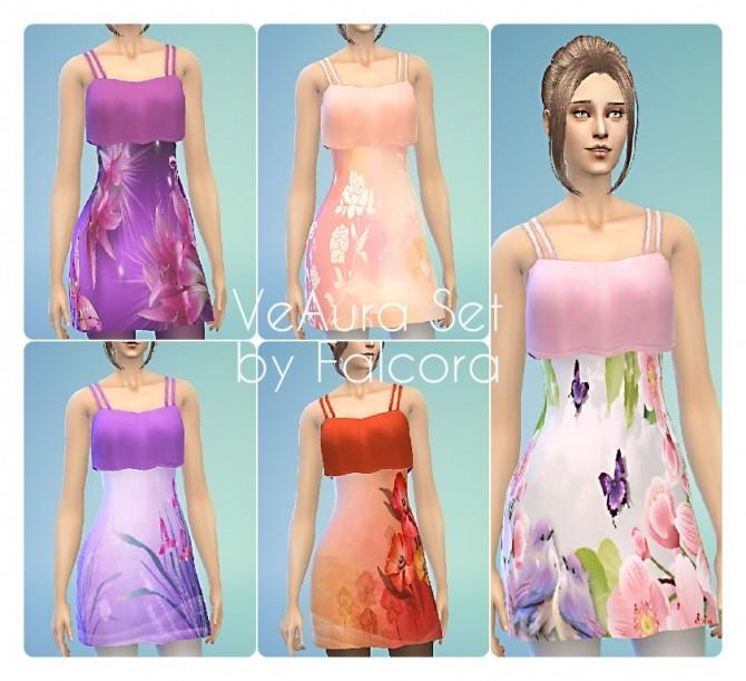 Sims 4 VeAura Set 10x F at Petka Falcora