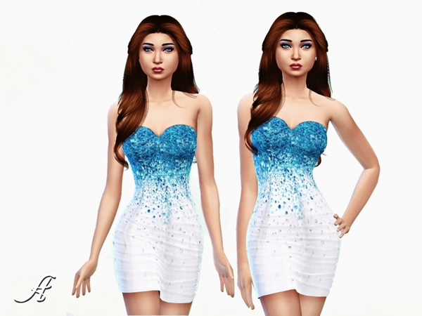 Icy Dress by Apathie at TSR image 1560 Sims 4 Updates