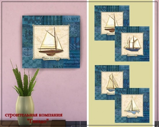 Sea ship decoupage picture at Sims by Mulena image 15816 Sims 4 Updates