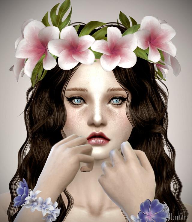 Aloha crown, necklace, bracelet, top at Jenni Sims image 15818 Sims 4 Updates