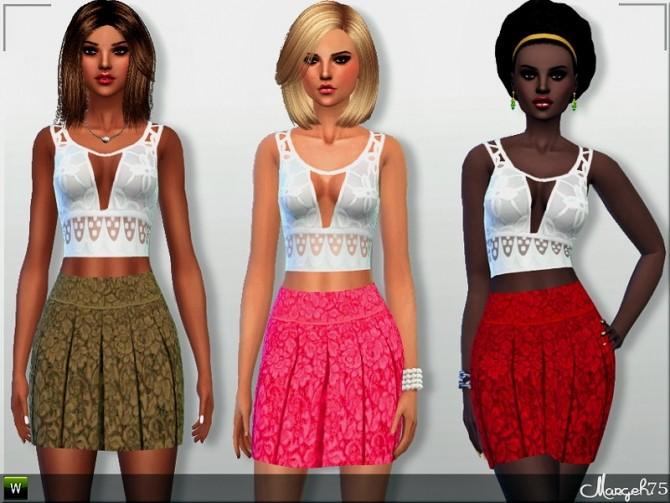 Sunny Daze Outfit by Margie at Sims Addictions image 16013 670x503 Sims 4 Updates
