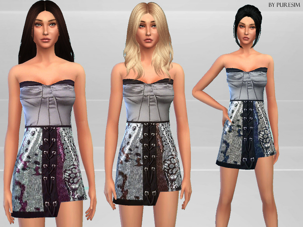 Satin Dress by Puresim at TSR image 161 Sims 4 Updates