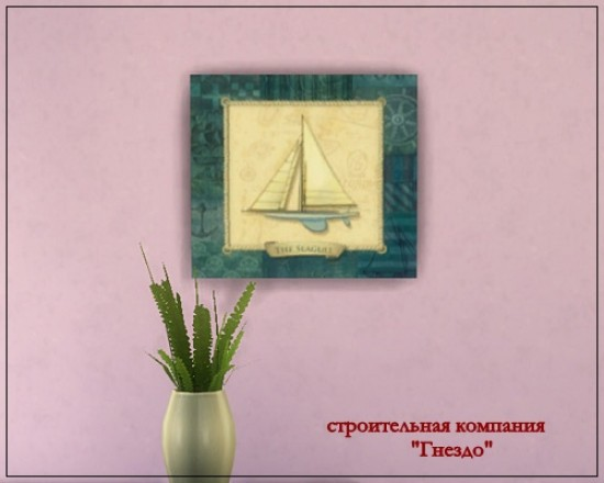 Sea ship decoupage picture at Sims by Mulena image 16122 Sims 4 Updates