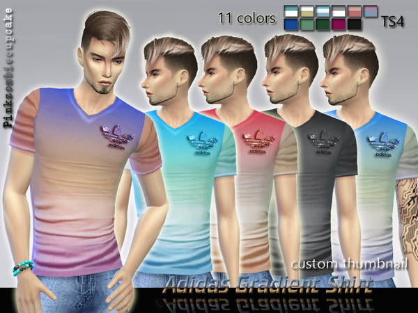 Sims 4 Gradient Shirt by Pinkzombiecupcakes at TSR