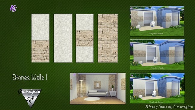 Walls Rock Amp Stone At Khany Sims 187 Sims 4 Updates