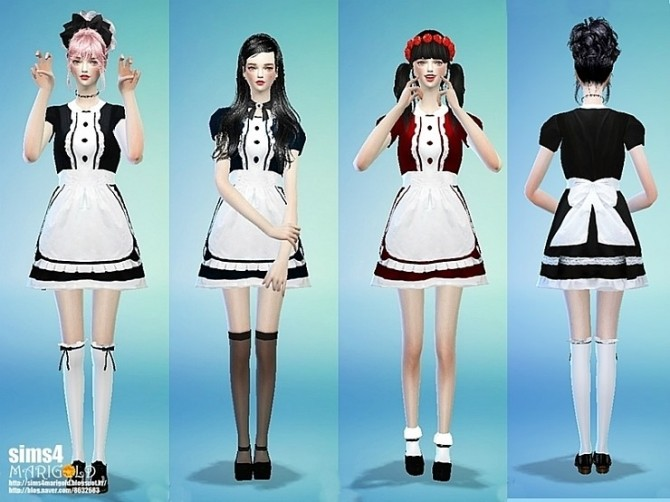 Maid Onepiece Outfit At Marigold 187 Sims 4 Updates