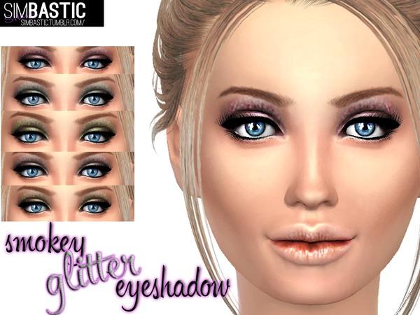 Sims 4 Smokey Glitter Eyeshadow by simbastic at TSR