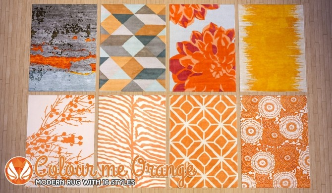 Colour Me Orange Modern Rugs At Simsational Designs 187 Sims 4 Updates