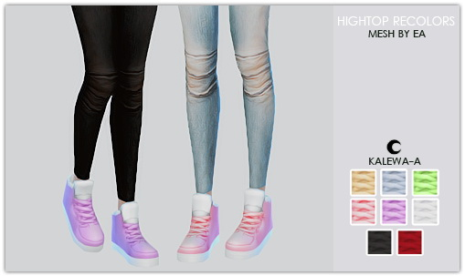 Hightop Recolors at Kalewa a image 165141 Sims 4 Updates