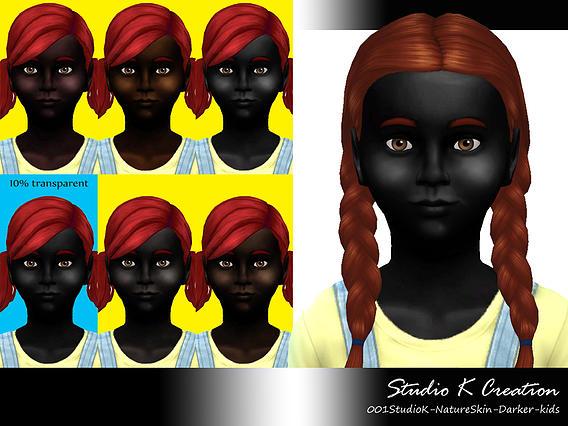 Sims 4 Nature Darker Skin for kids at Studio K Creation
