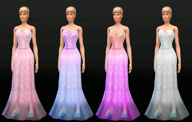 Sims 4 Gladiolus Wedding Dress at Lunararc