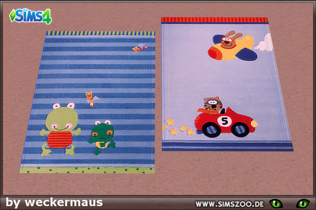 Sims 4 Kids Rug 01 by weckermaus at Blacky's Sims Zoo