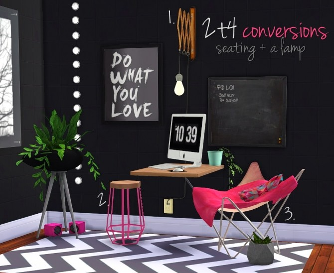 2t4 conversions seating lamp at grilled cheese aspiration sims 4 updates. Black Bedroom Furniture Sets. Home Design Ideas