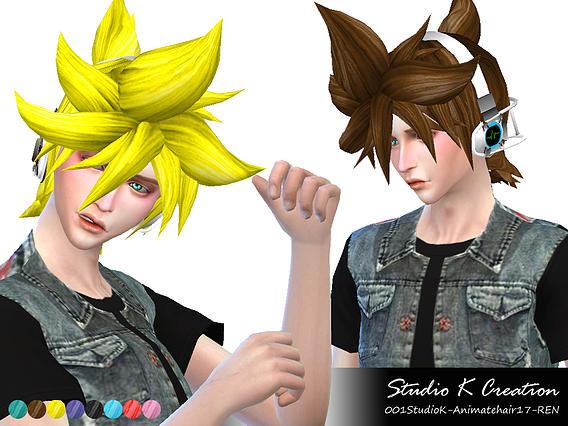 Animate Hair 17 REN at Studio K Creation image 17016 Sims 4 Updates