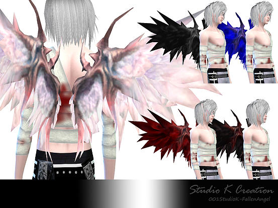 Sims 4 Wings and bandage at Studio K Creation
