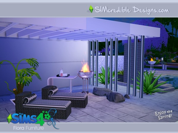 Flora outdoor furniture by SIMcredible! at TSR image 17106 Sims 4 Updates