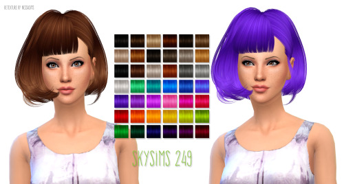 Skysims 249 hair retexture at Nessa Sims image 17214 Sims 4 Updates