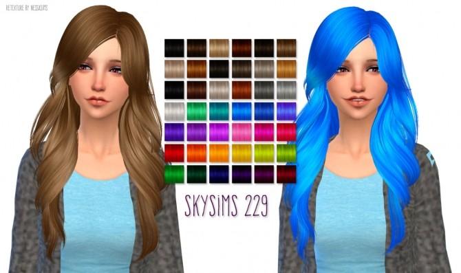 Skysims 229 hair retexture at Nessa Sims image 17513 670x397 Sims 4 Updates