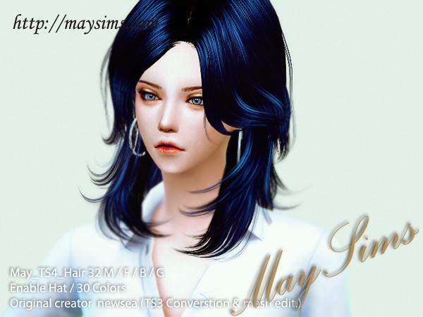 Sims 4 Hair 32 (Newsea) at May Sims