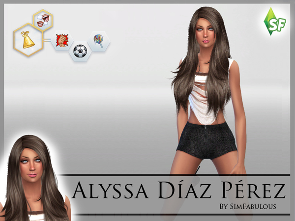 Sims 4 Alyssa Diaz Perez by SimFabulous at TSR