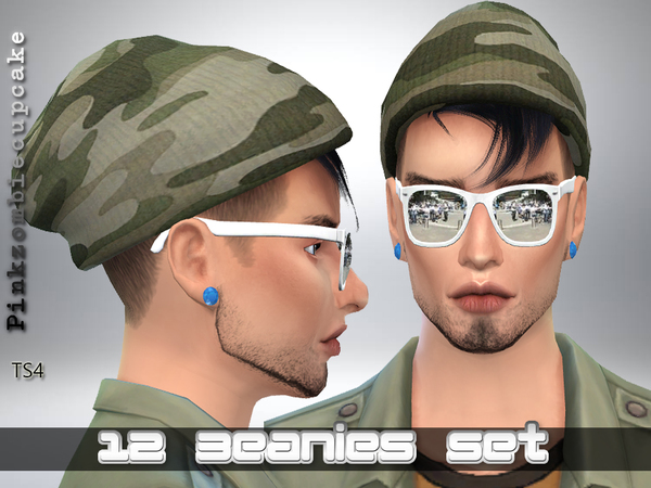 Sims 4 12 Beanies Set by Pinkzombiecupcakes at TSR