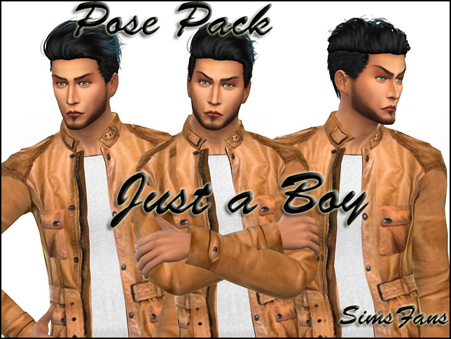 Just a Boy Posepack by Sim4fun at Sims Fans image 18105 Sims 4 Updates