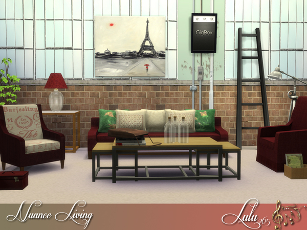 Sims 4 Nuance Living Room by Lulu265 at TSR