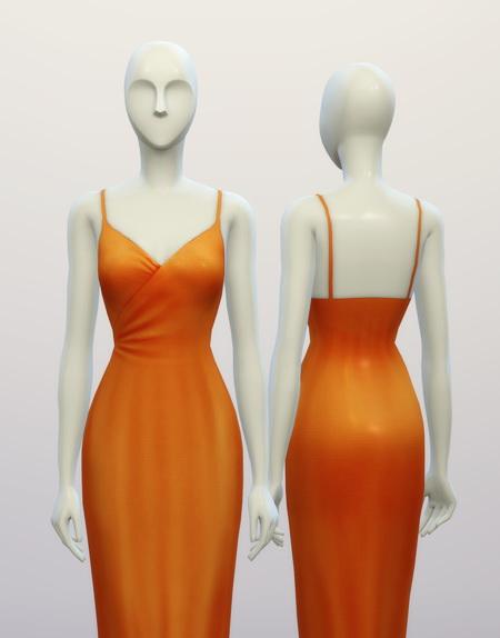 Sims 4 Basic maxi dress at Rusty Nail