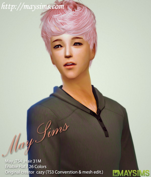 Sims 4 Conversion Hair 31 (Cazy) at May Sims