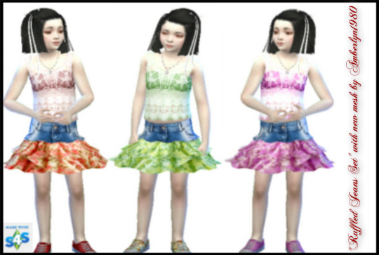 Sims 4 Cute Ruffled Jeans Set for girls at Amberlyn Designs