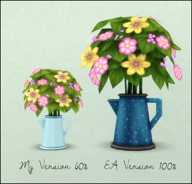 CanO flowers resized at Martine's Simblr image 18417 Sims 4 Updates