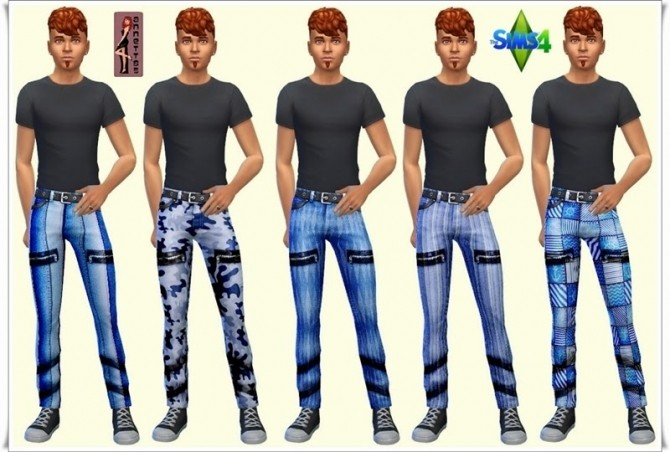 Sims 4 Freetime jeans for males at Annett's Sims 4 Welt
