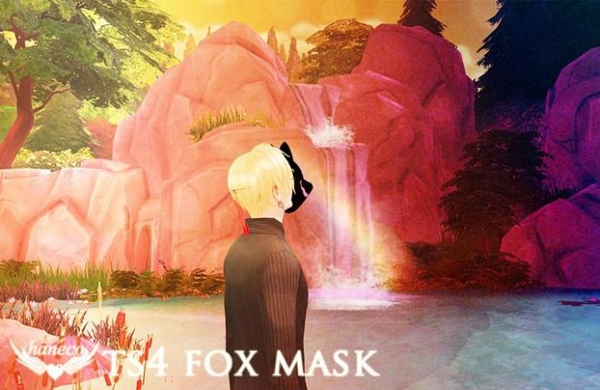 Sims 4 Fox Mask (kitsunemen) at    select a Sites