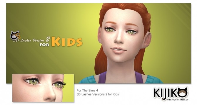 Sims 4 3D Lashes Version2 for Kids at Kijiko