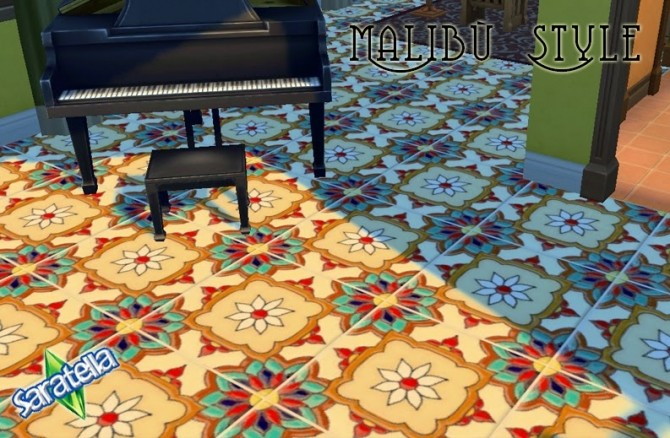 Sims 4 Malibù Style tiles at Saratella's Place