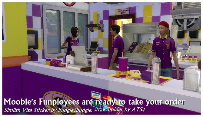 Moobie's Fast Food Restaurant at SimDoughnut image 1886 670x385 Sims 4 Updates