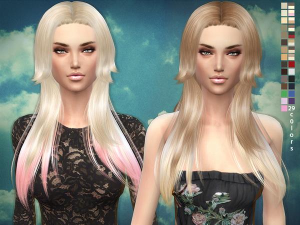 Sims 4 Rose hair 03 by sims2fanbg at TSR
