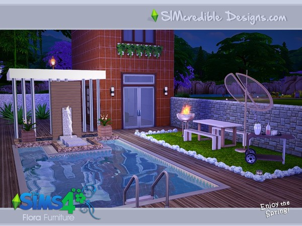 Flora outdoor furniture by SIMcredible! at TSR image 19100 Sims 4 Updates
