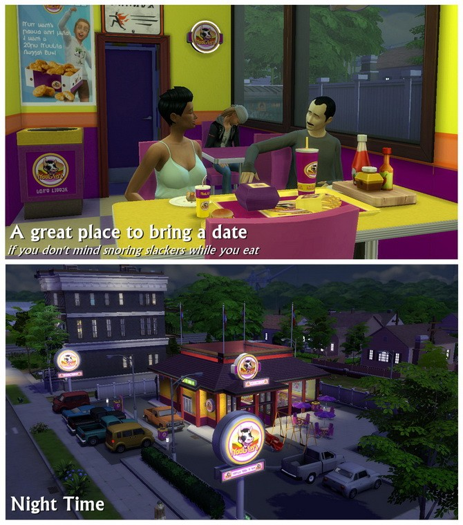 Moobie's Fast Food Restaurant at SimDoughnut image 19210 670x760 Sims 4 Updates