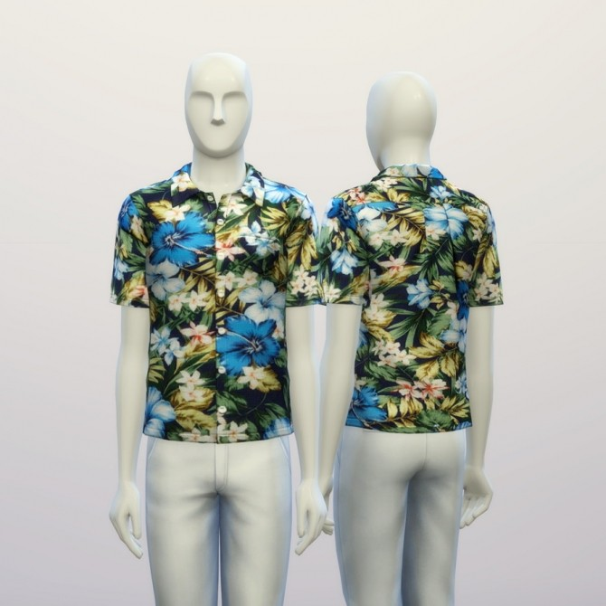 Aloha blue floral shirt at Rusty Nail image 19215 670x670 Sims 4 Updates