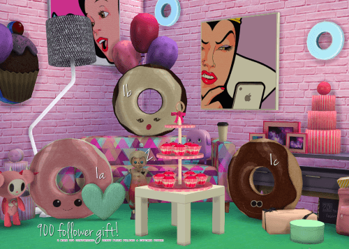 Sims 4 Donuts and cupcakes deco at Grilled Cheese Aspiration