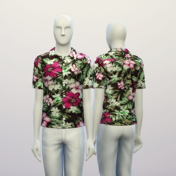Aloha blue floral shirt at Rusty Nail image 19312 670x670 Sims 4 Updates